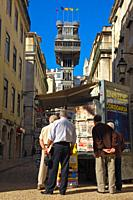 Lisbon, Elevador de Santa Justa, Elevador do Carmo, Baixa District, Portugal