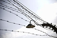 Electrified barbed wire ring surrounding the Auschwitz Concentration Camp, Oswiecim, Poland, Europe