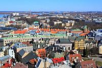 View of city from St  Peter's Church, Riga, Latvia