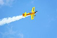 Pilot Matt Chapman flys a Mudry CAP Eagle 580 aerobatic airplane during air show at NAS Jacksonville, Florida