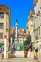 Lisbon, Figueira Square, Praça da Figueira, Baixa District, Portugal.