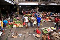 fruit and vegetable sellers at the traditional markets, Ubud, Bali, Indonesia