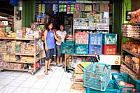 Shopkeepers at the traditional markets, Ubud, Bali, Indonesia