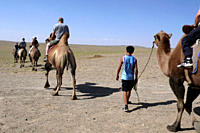 Tourists in Mongolia