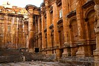Bacchus templel , archaelogical site of Baalbek,UNESCO World Heritage Site  Bekaa valley  Lebanon