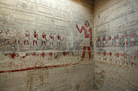 Murals in the mastaba of Kagemni, Saqqara, Egypt