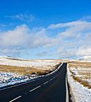 A4059 road through Brecon Beacons national park, Wales
