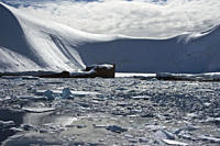 A view of the wreck of the Norwegian whaler Gubernor on the west side of the Antarctic Peninsula
