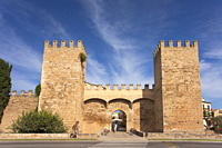 Old Town Gate and fortified walls, Alcudia, Majorca, Balearic Islands, Spain, Europe