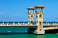 Stanley Bridge, City of Alexandria, Egypt, Mediterranean Sea