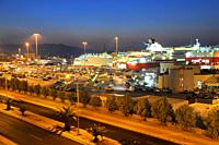 Passanger sea port in Heraklion with speedy ferries to the islands  Crete, Greece