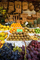 Views from an open air fruit market in Funchal, Madeira, Portugal Funchal is the capital of the Madeira Islands of Portugal Funchal is also the larges...