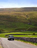 England, North Yorkshire, Langstrothdale, Oughtershaw, Car on road