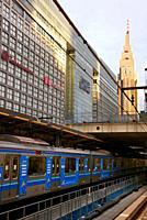 NTT DoCoMo Yoyogi Building, Railway station, Shinjuku, Tokyo, Japan.