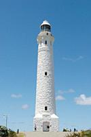 Australia, Cape Leeuwin Lighthouse, View of lighthouse with sky in background