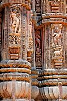Sculptural detail at the Hindu temple of Brahmeswar Mandir, Bhubaneswar, Orissa, India