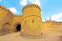 Mohammad ali mosque and gate of Bab Al Azab, Citadel of Salah Al-Din , City of Cairo, Egypt