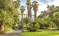 The public park Giardino Comunale Villa Ormond in San Remo, Liguria, North West Italy