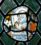 A Stained glass window depicting Philip, Count of Nassau Siegen, 1566 - 1595, Flemish School, circa 17th century, St Michael's and All Angels Church, ...