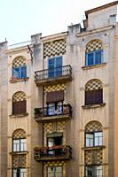 Art Nouveau building. Girona, Catalonia, Spain