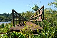 Abandoned walkway near the Devil's Throat waterfall, Iguazu National Park, Argentina