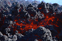 Italy, Sicily, Close up of lava flow from Etna volcano