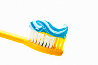 Close up of toothbrush and toothpaste
