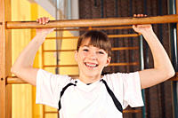 Germany, Emmering, Girl 12_13 smiling, portrait