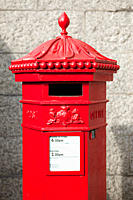Red post box, London