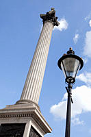 Nelson's column and street light, London