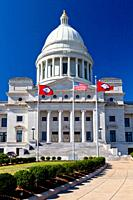 The Arkansas State Capitol building in Little Rock, Arkansas, USA