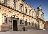 The Palazzo dei Celestini and the Basilica of Santa Croce, Lecce, Puglia, Italy
