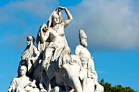 Albert memorial statues, Hyde park, London, England