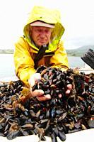 John Harrington mussel rear, Ardgroom, Beara Peninsula, Co. Cork, Ireland