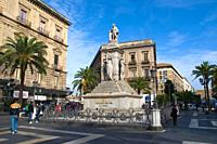 Piazza Bellini central Catania Sicily Italy Europe