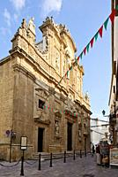 The cathedral in Gallipoli, Puglia, Italy
