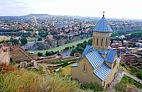 The Church of St Nicolas inside the Narikala Fortress, Tbilisi, Georgia