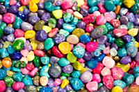 Colorful rock pebbles