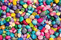Colorful rock pebbles
