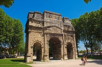 Roman Triumphal Arch of Orange, Unesco World Heritage Site, Orange, Vaucluse, Provence-Alpes-Côte d´Azur, France