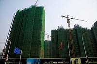 A group of Buildings under construction,Beijing