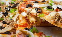 Pizza With A Variety Of Toppings