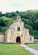 San Salvador de Valdedi&#243;s monastery. Asturias province, Spain