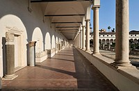 Rome  Italy  Baths of Diocletian  Michelangelo's Cloister in the church of Santa Maria degli Angeli
