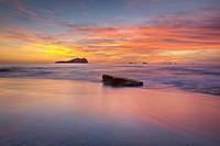 Sunset in Cala des Compte, Ibiza, Balearic Islands, Spain