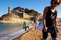 Tossa de Mar  Grand beach Costa Brava  Girona province  Catalonia  Spain