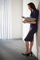 Business woman holding folder