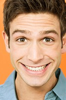 Young man smiling, portrait, close_up