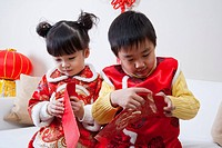 Children celebrating festival