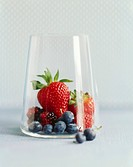 Various berries in a glass